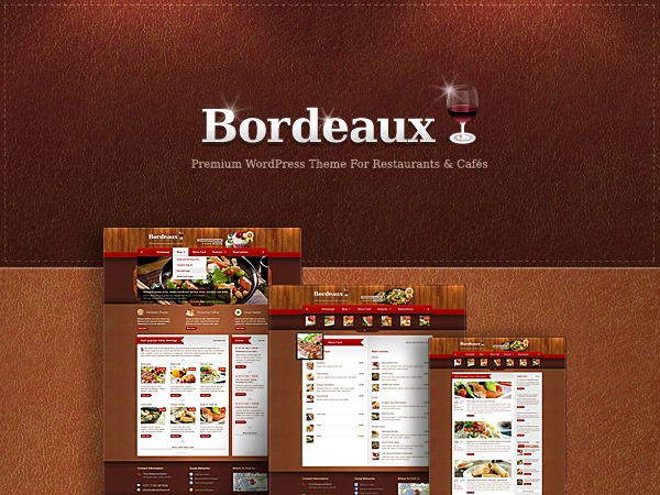 Bordeaux Premium Theme WordPress template