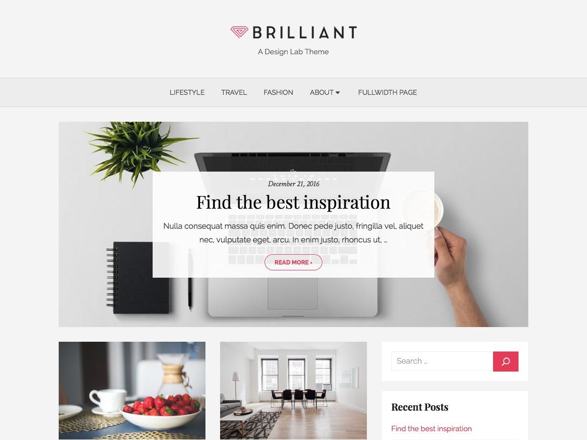 Brilliant WordPress blog template