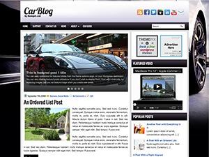 CarBlog WordPress blog template