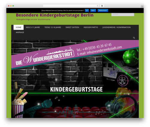 Catch Responsive WP template - wunderwerkstadt4kids.de