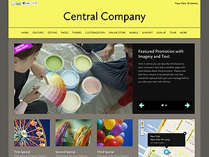 Centered Design WordPress theme