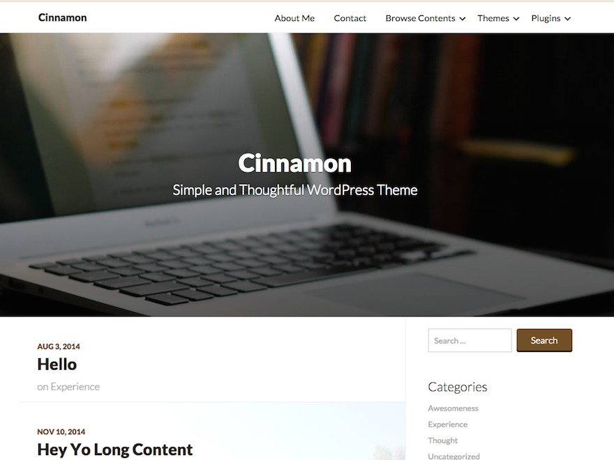 Cinnamon WP theme