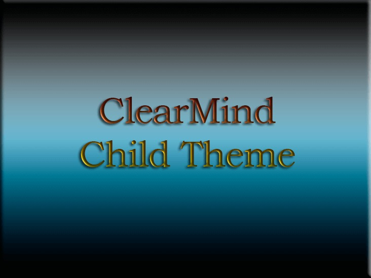 ClearMind Child Theme WP template