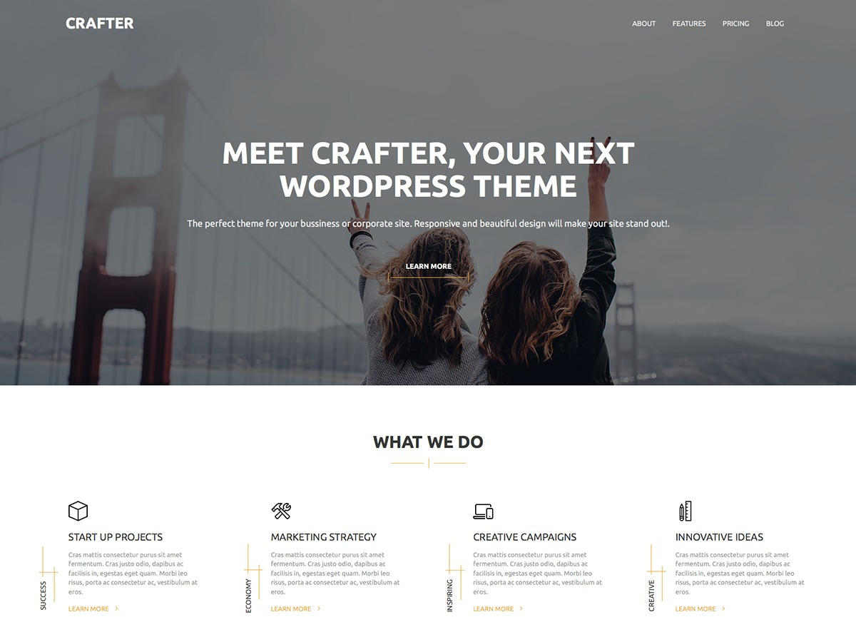 Crafter free website theme