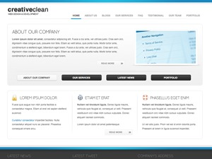 CreativeClean WP Template best portfolio WordPress theme