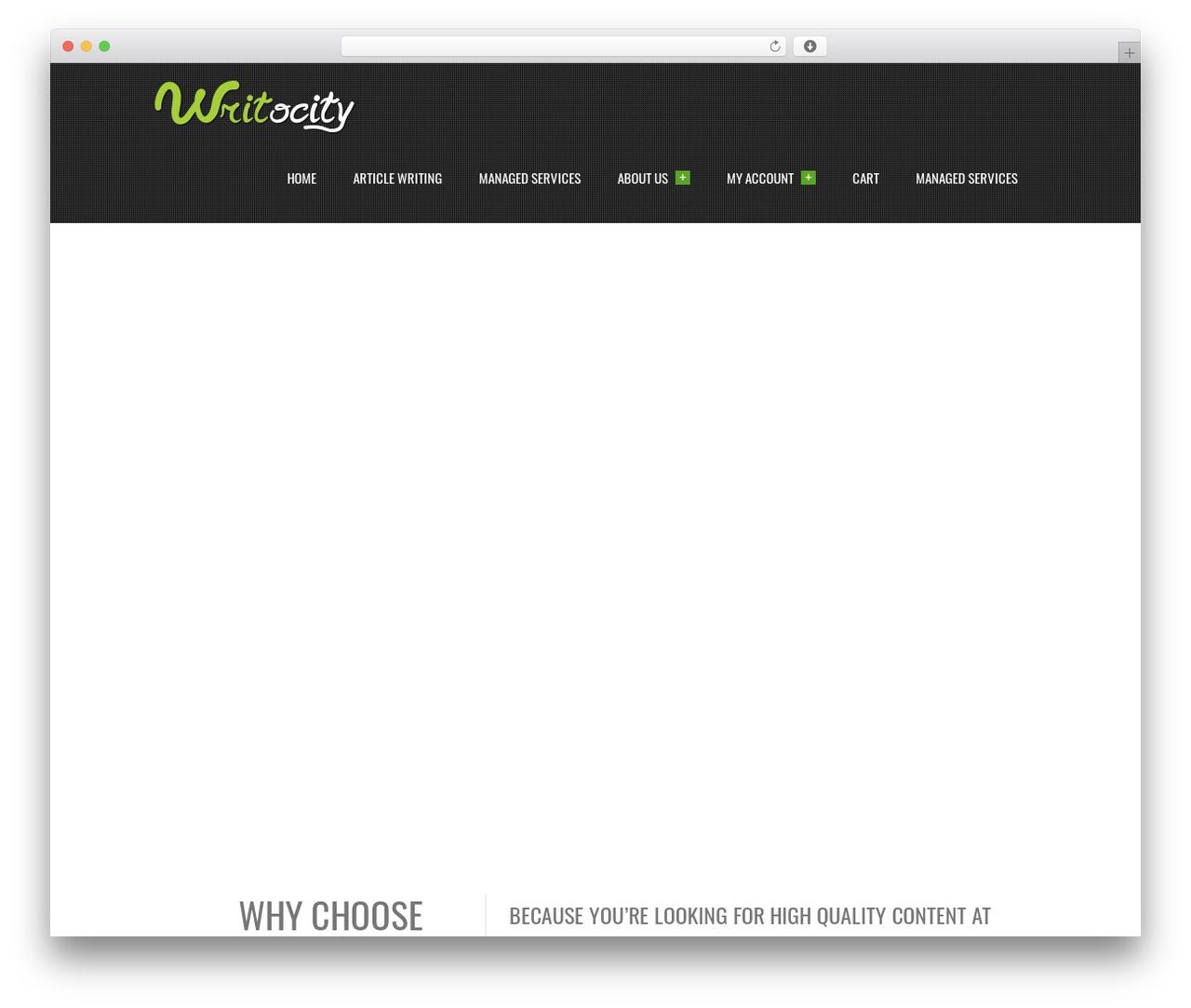Creativo 2.0 WordPress theme - writocity.com