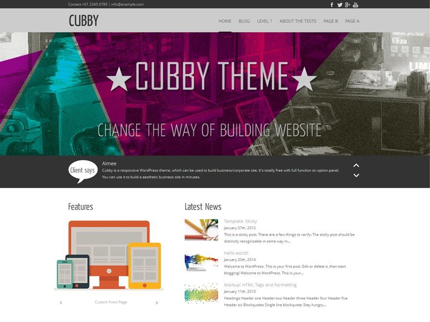 Cubby company WordPress theme