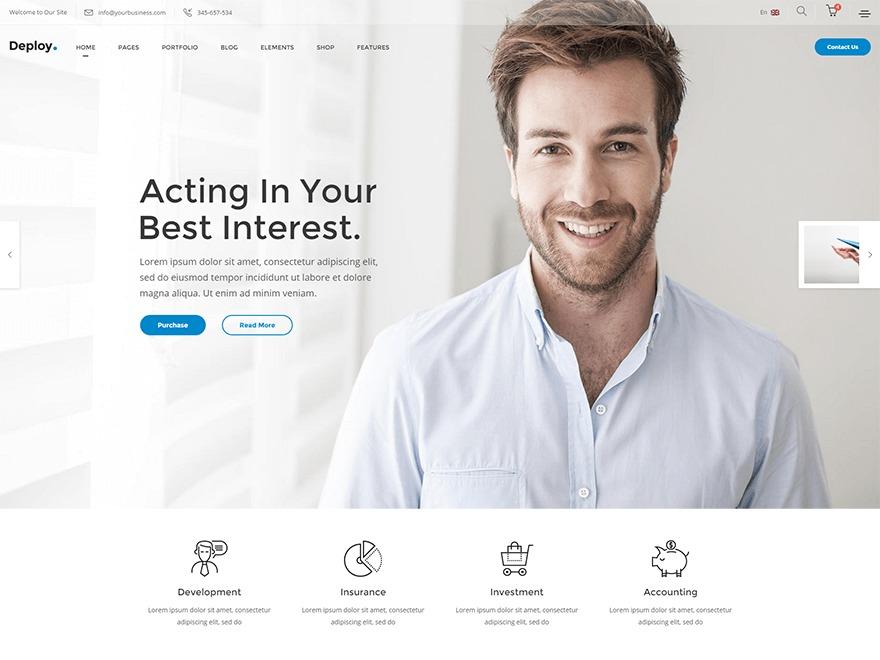 Deploy business WordPress theme