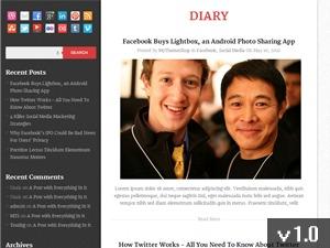 Diary WordPress ecommerce theme
