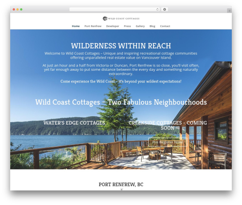 Divi real estate WordPress theme - wildcoastcottages.com
