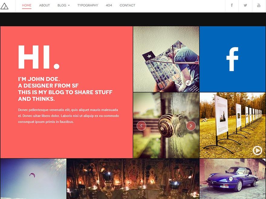 DW Fixel WordPress blog template