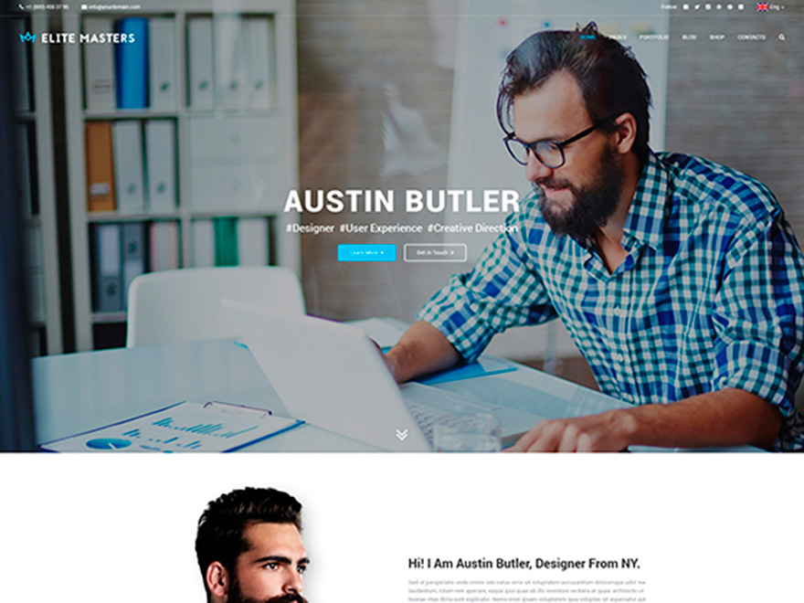 Elite Masters WordPress page template