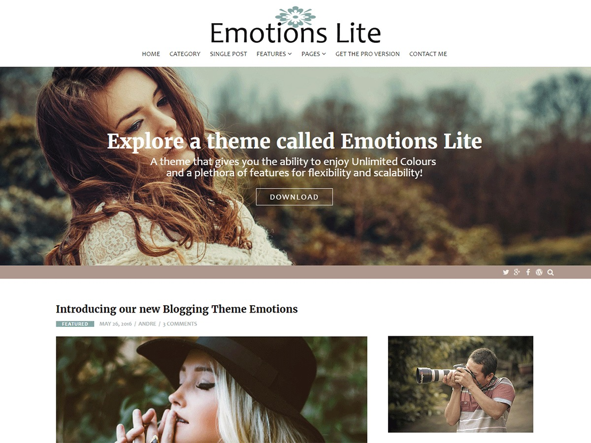 Emotions Lite WordPress blog theme