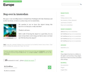Europe WordPress theme