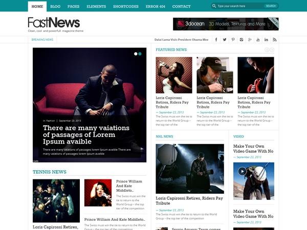 FastNews newspaper WordPress theme