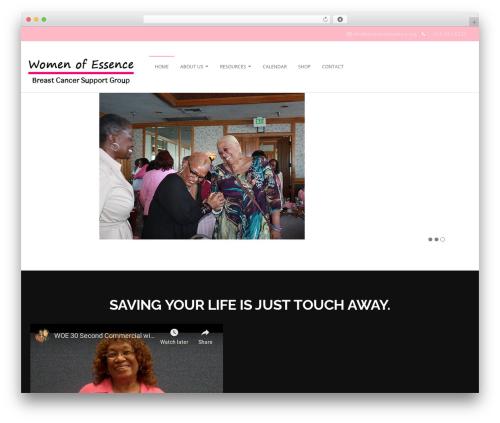 Genuine WordPress template - womenofessence.org