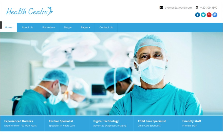 Health-Center-Pro WordPress template