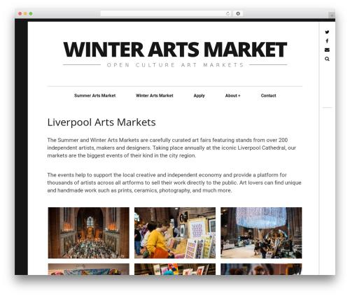 Hive food WordPress theme - winterartsmarket.com