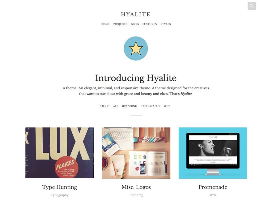 Hyalite WordPress blog theme
