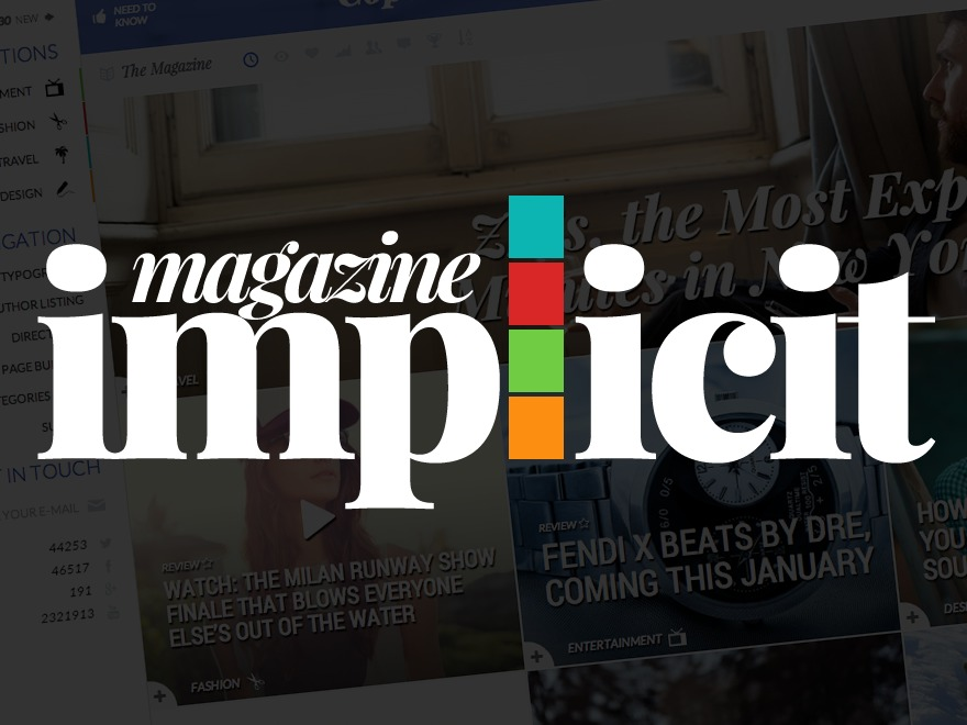 Implicit WordPress magazine theme