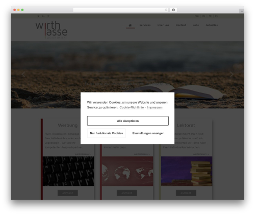 Indigo WordPress template for business - wirthlasse.de