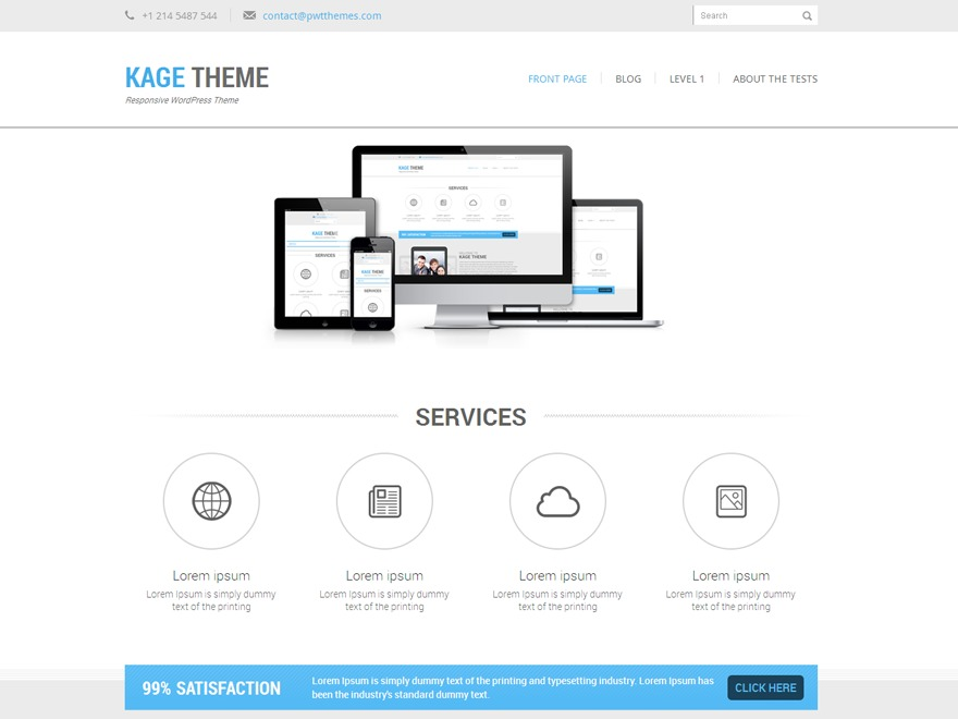 Kage PRO WordPress template for business