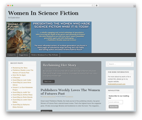 Magazine Basic free WordPress theme - womeninsciencefiction.com