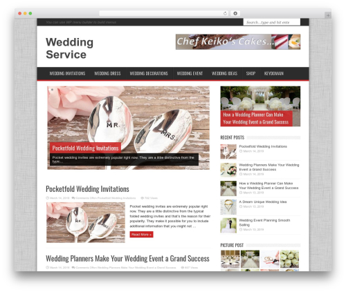 MagNews WordPress news theme - wedding-service.keydomain-memberships.com