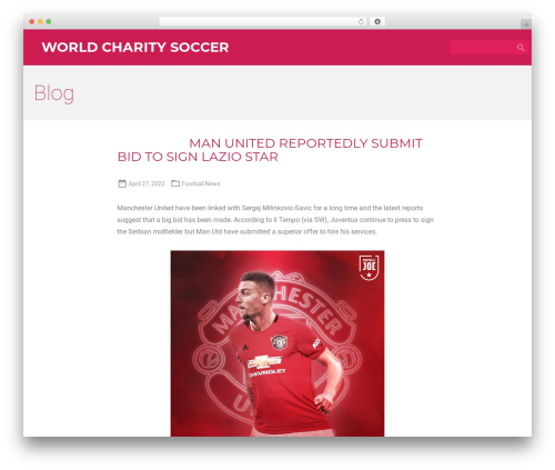 Material for Coders free WP theme - worldcharitysoccer.com