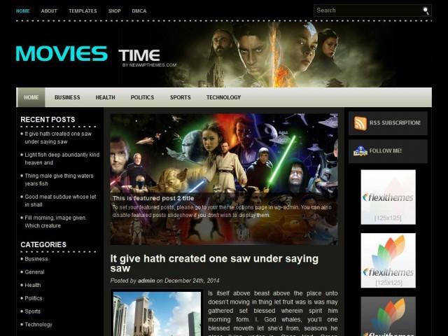 MoviesTime best WordPress video theme