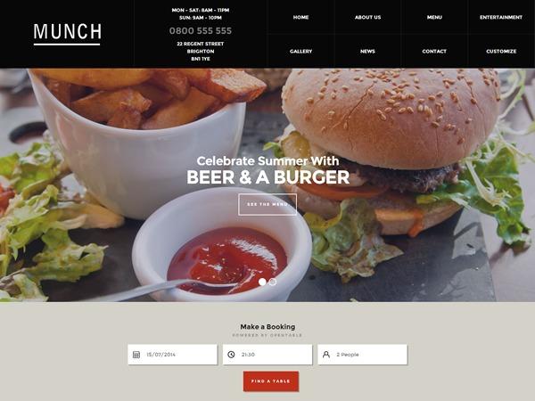 Munch WordPress theme