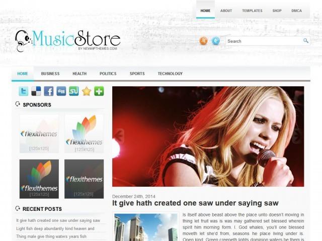 MusicStore WordPress ecommerce template