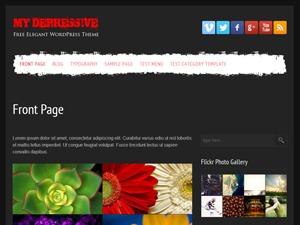 my depressive template WordPress