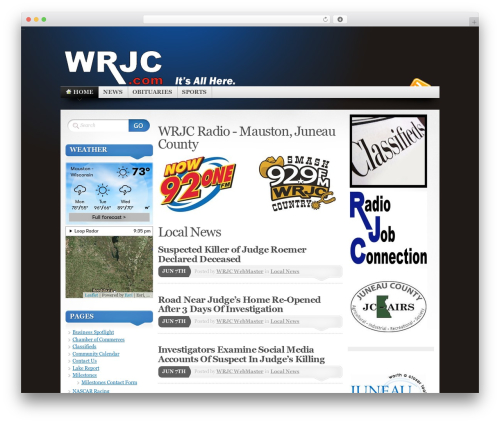 Mystique WordPress website template - wrjc.com
