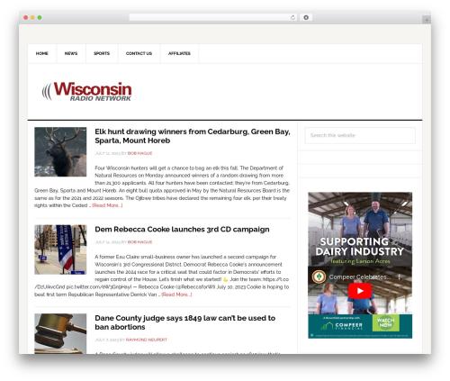 News Pro Theme WordPress news template - wrn.com