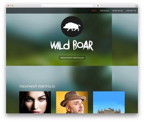 Onesie Pro WordPress website template - wildboarproductions.co.uk