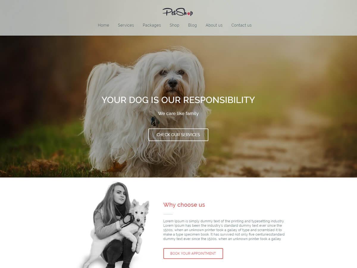 Petshop WordPress ecommerce theme
