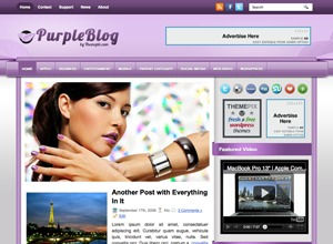 PurpleBlog WordPress blog theme