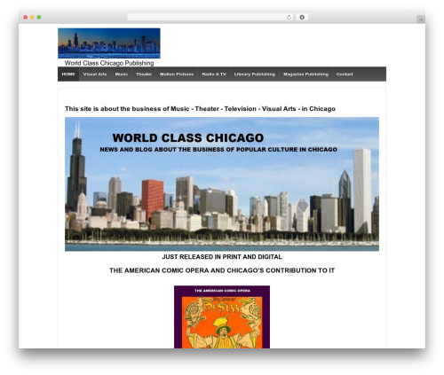 Responsive best free WordPress theme - worldclasschicago.com