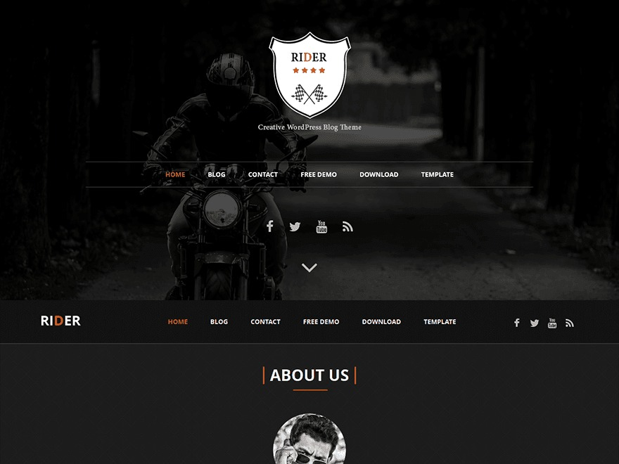 Rider template WordPress free by FasterThemes - bike-hack com