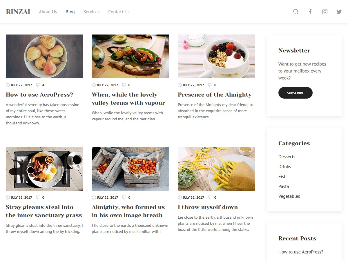 Rinzai WordPress theme download