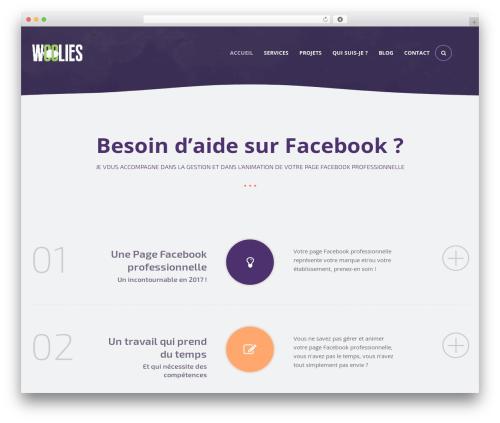 Rocket template WordPress - woolies.fr