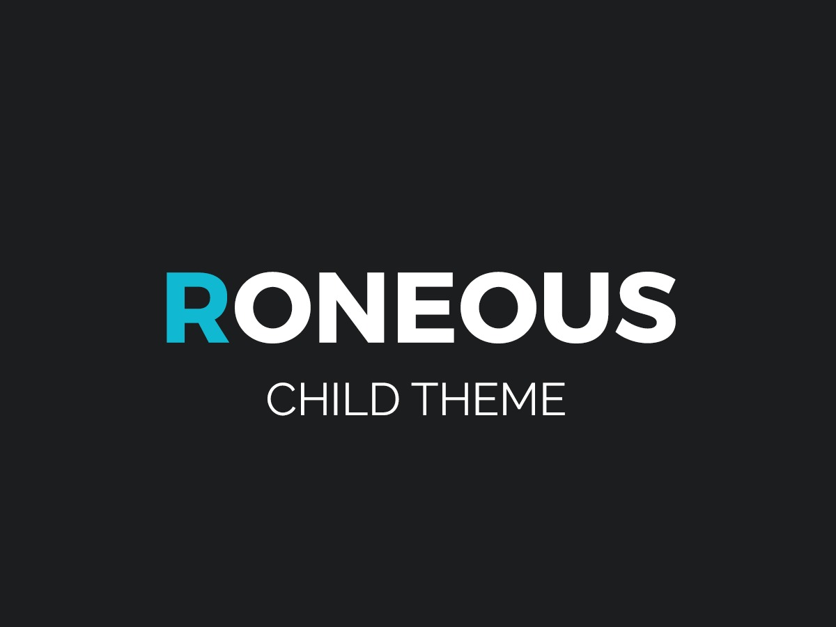 Roneous Child WordPress theme