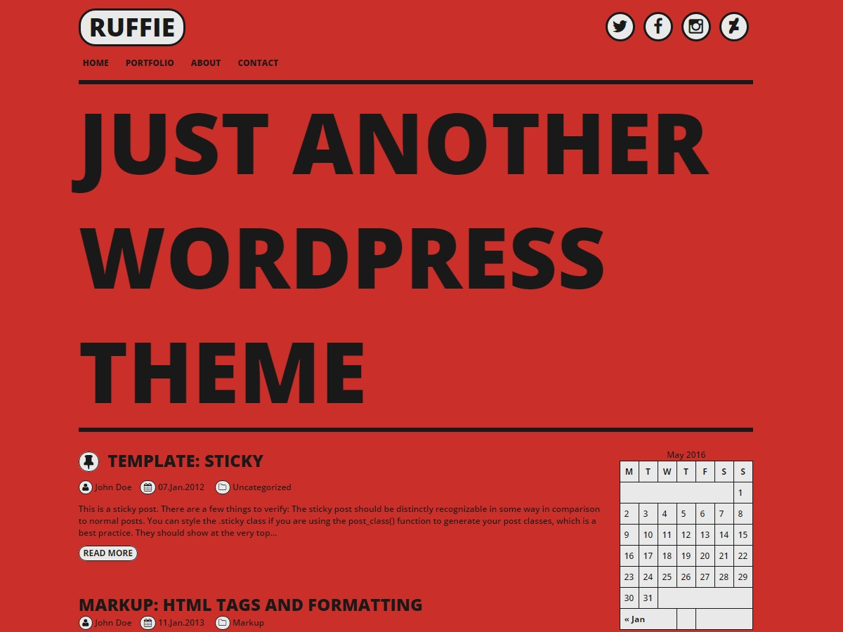 Ruffie theme free download