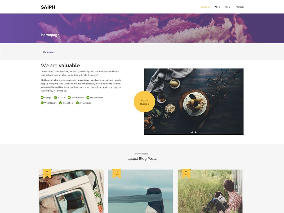 Saiph Lite WordPress theme