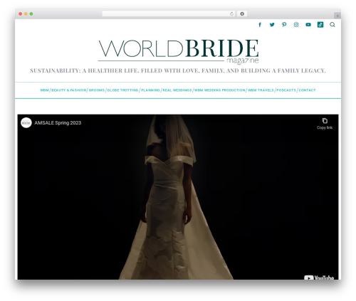 Free WordPress Simple Author Box plugin - worldbridemagazine.com