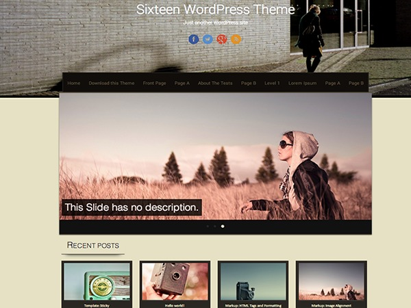 Sixteen Child WordPress ecommerce theme