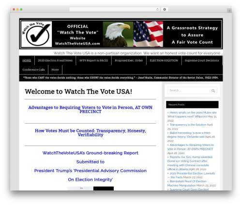 Smartline WordPress page template - watchthevoteusa.com