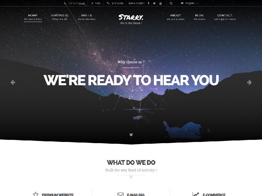 Starry top WordPress theme