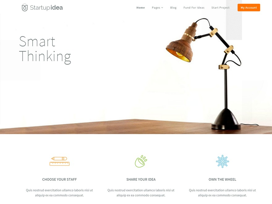 startupidea WordPress theme